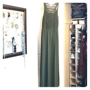 Maxi Army Green Dress